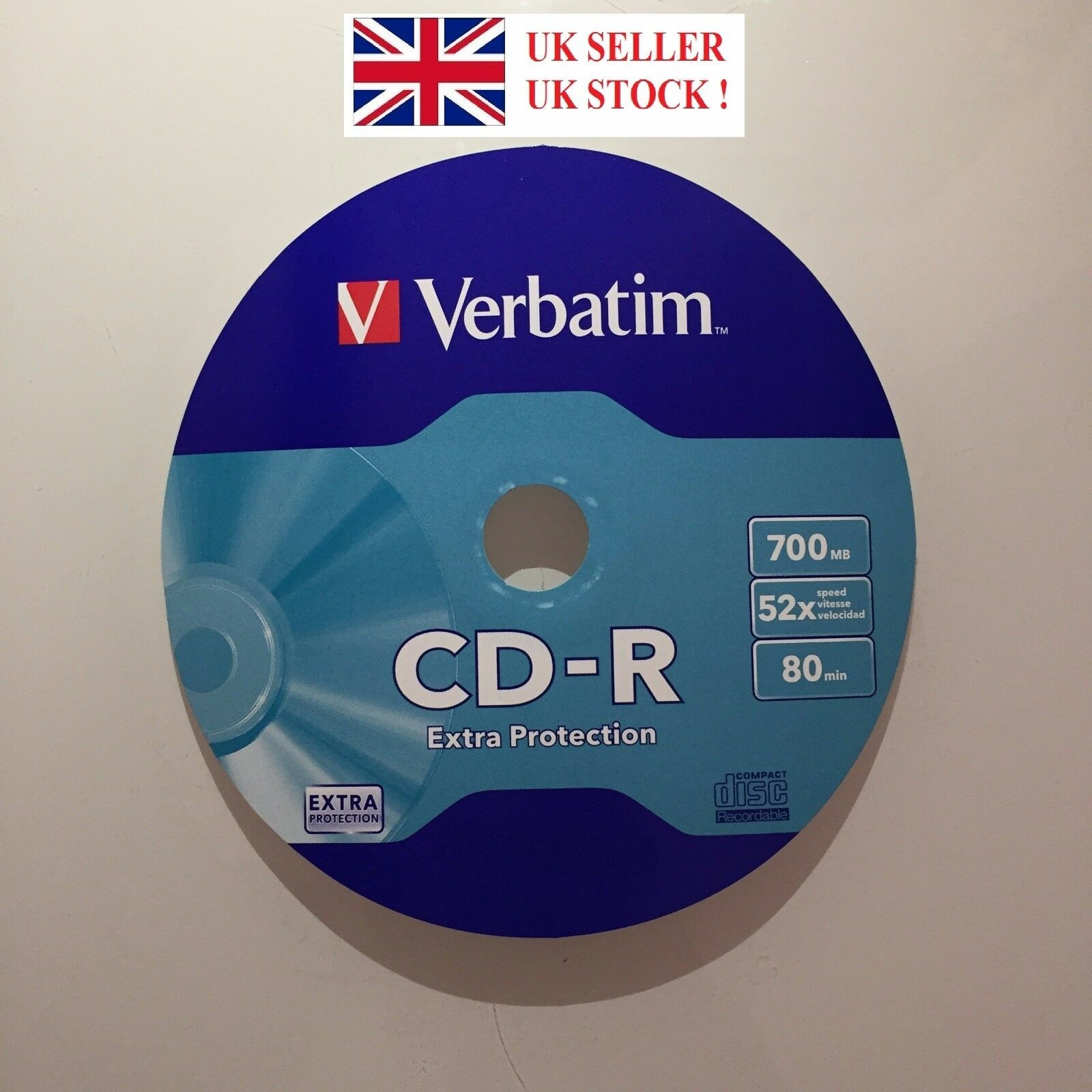 Verbatim Blank CD-R Disc (52x 80min 700MB) Blank Empty Audio CD Recordable BNIS