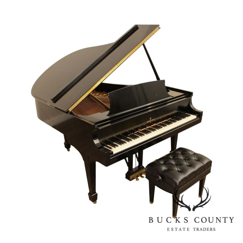 Steinway 1957 Model M Ebonized Black Grand Piano