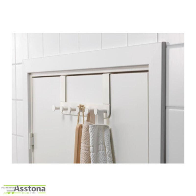 Details Zu Ikea Enudden Türgarderobe 6 Haken Metall Aufhänger Für Tür Weiß 35cm