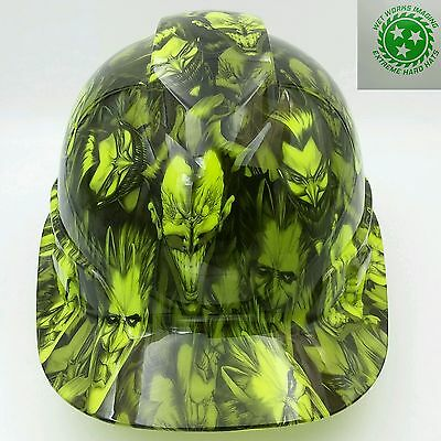 Hard Hat Custom Hydro Dipped Osha Approved Jokers Gone Wild Lime Green