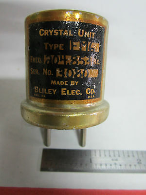 Vintage Bliley Electric Fm6 Quartz Radio Crystal Frequency 204.853 Kc Made 1953