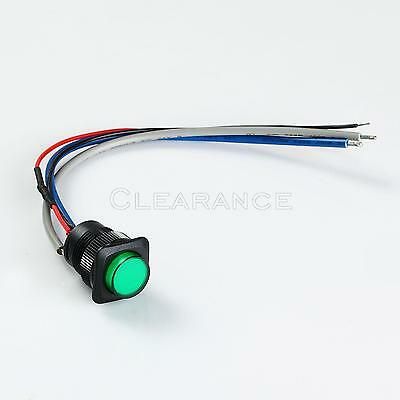 Illuminated Momentary Push Button - Green Onoff Switch Free Shipping
