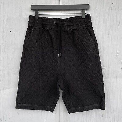 Alexandre Plokhov Black Cotton Blend Seersucker Low Crotch Shorts Men's It 48, M