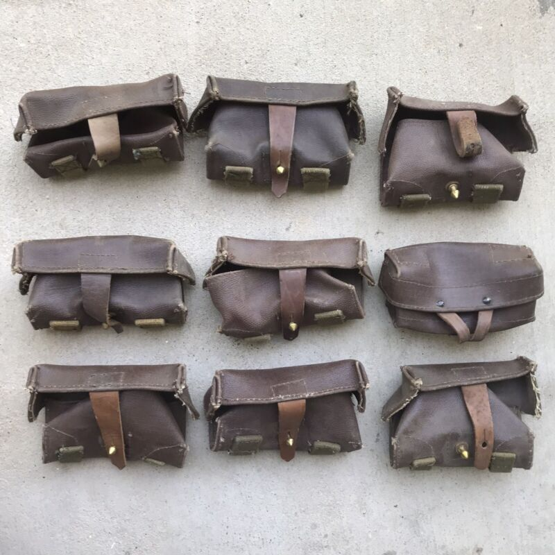 One (1) Russian Soviet Military SKS Stripper Clip Ammo Pouch Pocket 1950