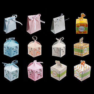 Baby Shower Pattern Gift Boxes Mini Jungle Baby Carriage Treat Boxes Favors (Mini Gift Boxes)