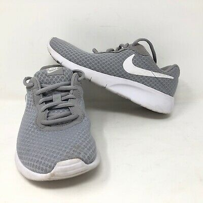Nike Tanjun Little Kids Wolf Grey Low Shoes Size 3Y Mesh Upper