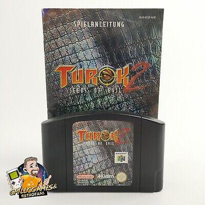 """Nintendo 64 Spiel """" Turok 2 Seeds of Evil + Anleitung """" N64   Modul Cartridge"""