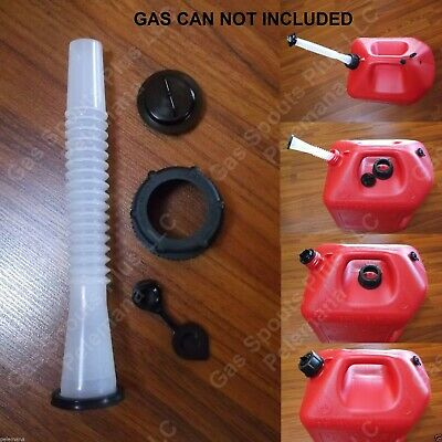 Midwest Fix Your Gas Can Kit Spout Parts Screw Cap Collar Stopper Black Vent