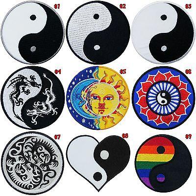 Yin Yang Tao Taoism Hippie Boho 70's Symbol Peace Kung Fu Lucky Iron on Patch #1
