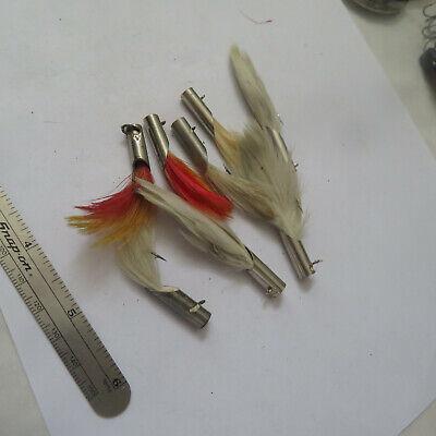 D12-10 H/&H 1//2 oz Double Eye Jig Heads 10 Pack White Fishing Lure
