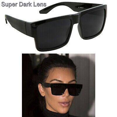 Kardashian Sunglasses Kim Matte Black Fashion Top S Women Square Aviator (Kim Kardashian Black Sunglasses)