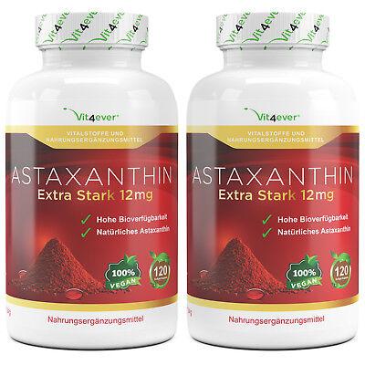 2x Astaxanthin 12 mg = 240 Softgel Kapseln - natürlicher Antioxidant Softgels ()