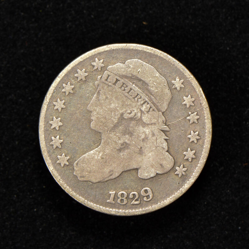 1829 10c CAPPED BUST DIME - SMALL 10c - LOT#Y700