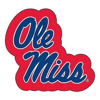 Ole Miss Rebels Mascot Decorative Logo Cut Area Rug Floor Mat