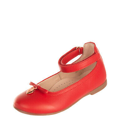 RRP€205 EMPORIO ARMANI Leather Ballerina Flat Shoes EU25 UK8 US8.5 Made in Italy