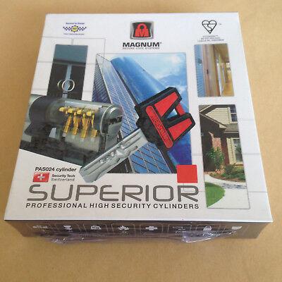 Hi Security Door Cylinder MAGNUM SUPERIOR 70mm Key-Both-Sides Euro Home Lock