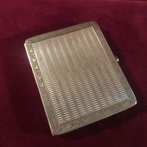 Lady's Antique German 900 Silver Cigarette Case by Kuppenheim of Pforzheim