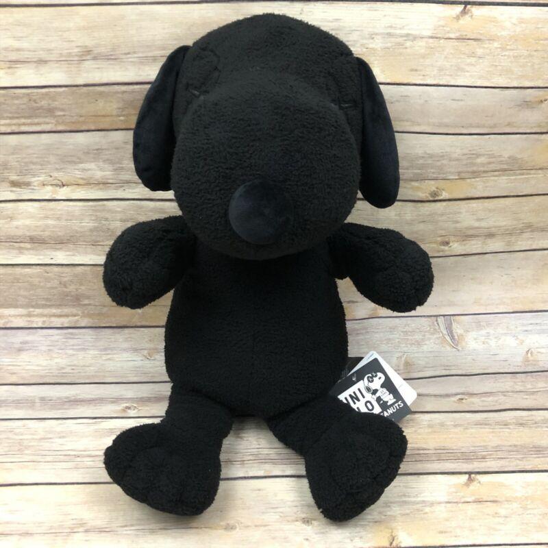 """KAWS x PEANUTS x UNIQLO Stuffed Black Snoopy 22"""" Plush Toy"""