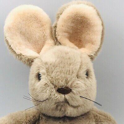 "1986 Vintage Presents H Joe Ware Brown Rabbit Plush Stuffed Animal 14"""