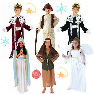 Maria Engel Josef Schäfer König Kostüm Kinder Krippenspiel Jungen Mädchen - Kinder Krippe König Kostüm