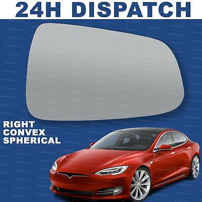 Right Driver side Convex wing mirror glass for Tesla Model S 2012-2020