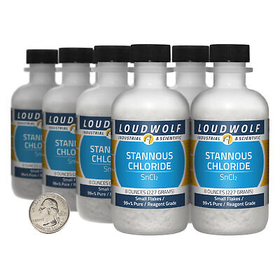 Stannous Chloride 4 Lbs 8 Bottles 99 Pure Reagent Grade Small Flakes