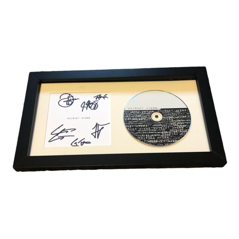 WHISKEY MEYERS SIGNED AUTOGRAPH SELF TITLED FRAMED CD DISPLAY CODY CANNON +5