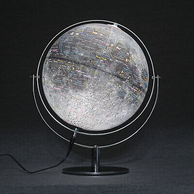 "Mapsoft Classic Illuminated Moon Globe, 24cm/9.5"", MCI-24, Moon Lamp, Moon Light"
