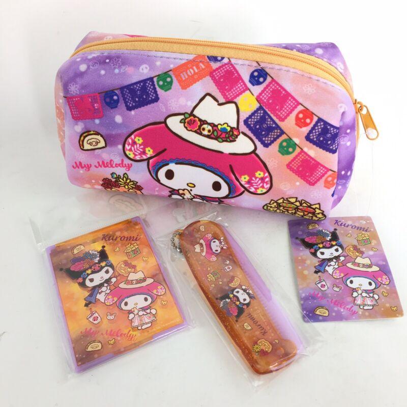 Sanrio My Melody Kuromi Halloween Day Of Dead Zipper Pouch Bag Purse Japan NWT