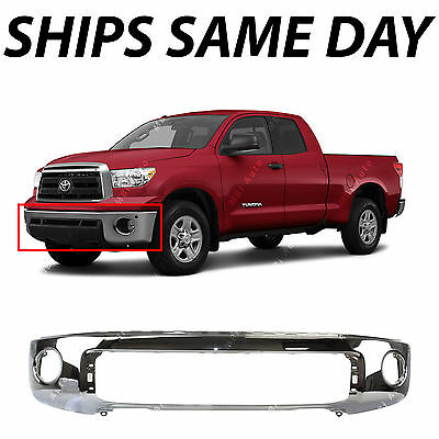 Truck Front Bumper - NEW Chrome - Steel Front Bumper for 2007-2013 Toyota Tundra Truck W/ Park Assist