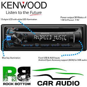 KENWOOD BLUE DISPLAY 4 x 50 Watts Car Stereo CD MP3 Radio USB AUX iPhone Player