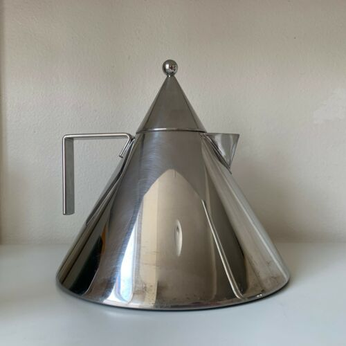 Iconic Modern Alessi Il Conico 90017 Stainless Steel Water Kettle