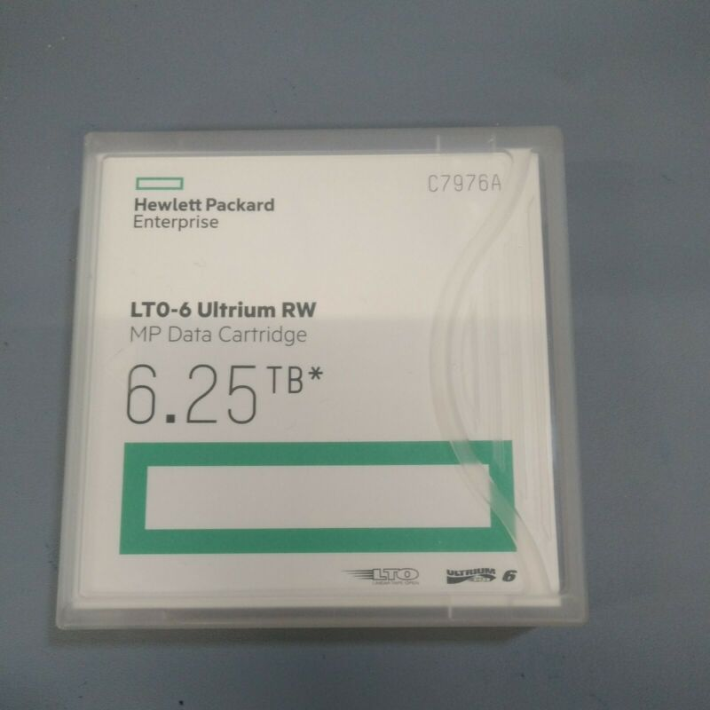 HP (C7976A) LTO-6 Ultrium 6.25TB MP RW Data Cartridge - New