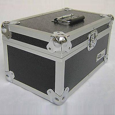 "1 X NEO Aluminum Black Storage DJ Case for 200 Vinyl LP Records 7"""