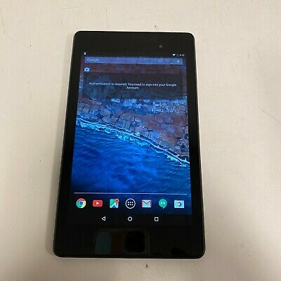 "ASUS Google Nexus 7 K008 2nd Generation 16GB 7"" Wi-Fi Tablet - Black TESTED"