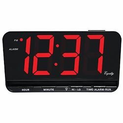 30402 Equity by La Crosse Large 3 LED Digital Alarm Clock with High/Low Dimmer