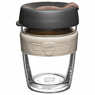 KeepCup LongPlay Glass Reuseable Coffee Tea Cup Travel Mug - 340ml 12oz - Syphon