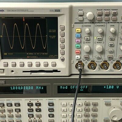 Tektronix Tds3014 Color Digital Phosphor Oscilloscope 100mhz 4 Channel Tested