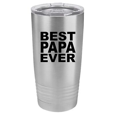 Tumbler 20oz 30oz Travel Mug Cup Vacuum Insulated Stainless Steel Best Papa