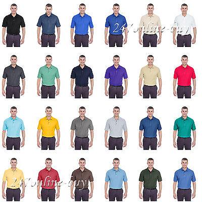 UltraClub Mens Whisper Pique Blend Polo Shirt - 8540