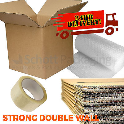20 X LARGE NEW DOUBLE WALL Cardboard Moving Boxes - Removal Packing Storage