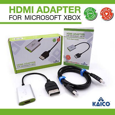 Xbox Original Console HDMI Cable Adapter - Classic Xbox HDMI Converter -...
