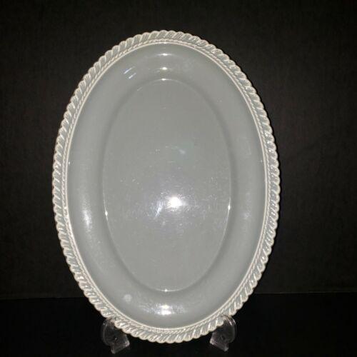 """Harkerware Chesterton Gray 13 3/4"""" Oval Platter"""