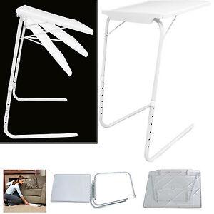 new portable table mate adjustable tv dinner tray folding fold table desk ebay. Black Bedroom Furniture Sets. Home Design Ideas