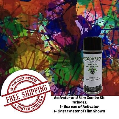Hydro Dip Hydrographic Water Transfer 6oz Activator 1m Paint Bomb Film Kit
