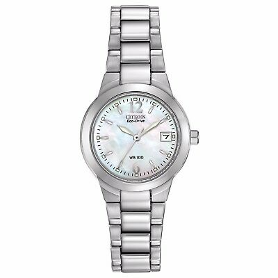 Citizen Eco-Drive Women's EW1670-59D Mother of Pearl Dial Silver-Tone 26mm Watch ()
