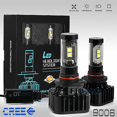 80W 8000LM 9006 HB4 CREE LED Headlight Lamp Low Beam Kit Light Bulbs 6000K White