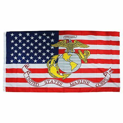 3x5FT Marine Corps American FLAG USMC Marines Banner US USA Military Décor