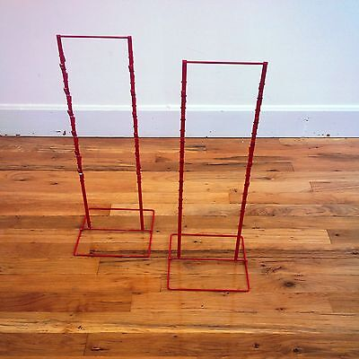 2 - Double Round Strip Potato Chip Candy Clip Counter Display Racks In Red