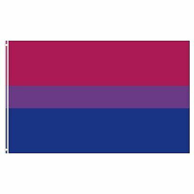 3×5 Ft Bi Pride Polyester Flag Bisexual Flag Double Stitched Canvas Header Décor